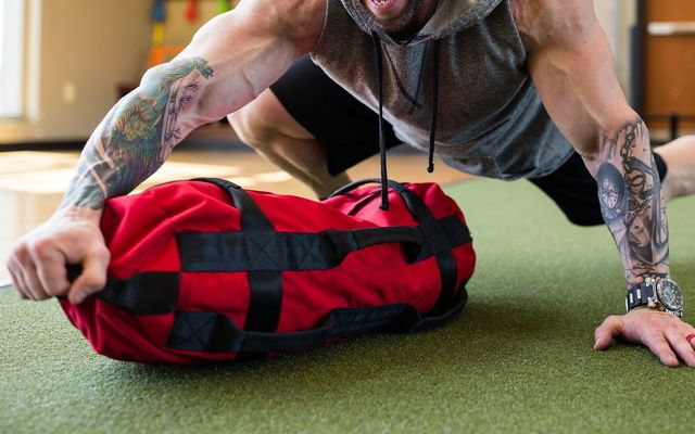workout sandbag training