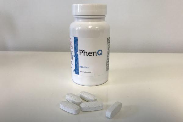 PhenQ bottle with pills