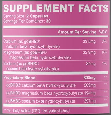 Nobi Nutrition Ingredients List